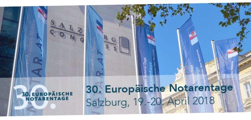 30ème Conférence des Notaires Européens – Salzbourg, 19-20 avril 2018
