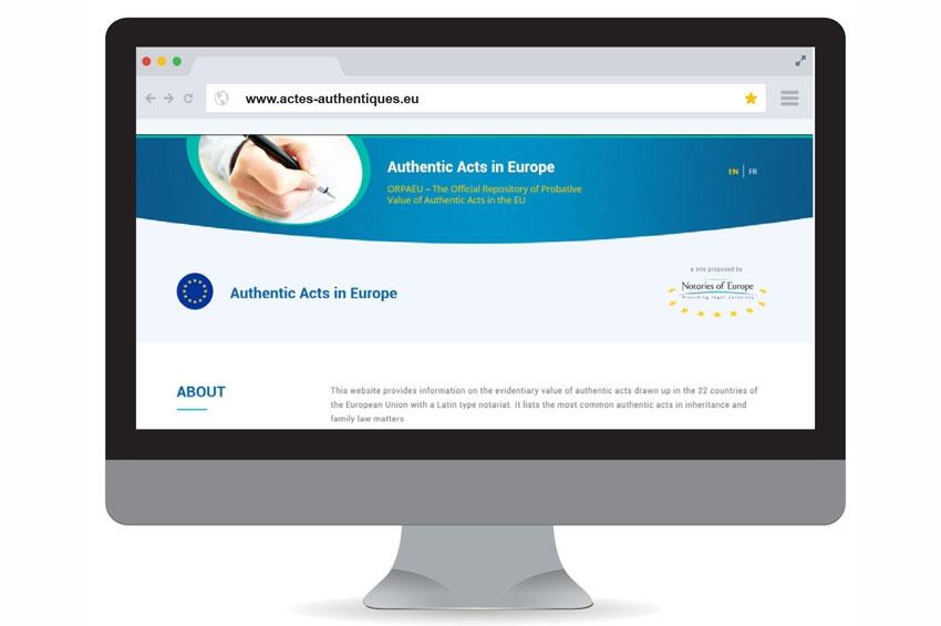 Lancement du site « Actes authentiques en Europe » - 17 mai 2018